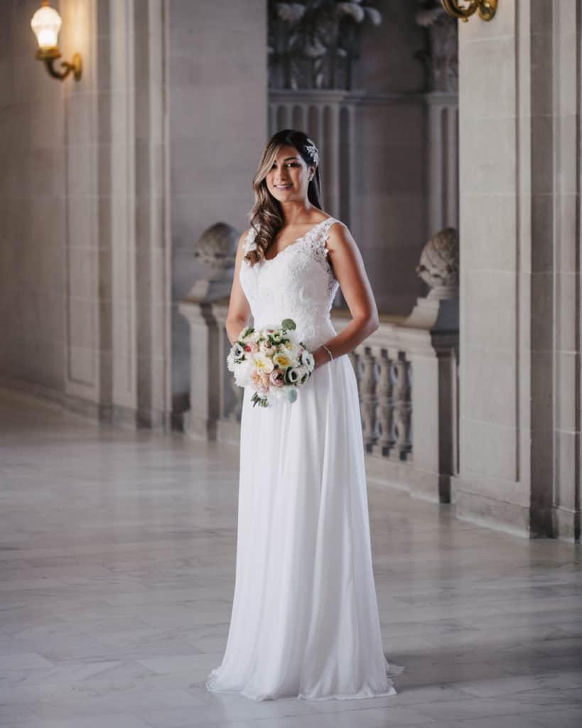 standing bride sf city hall 3rd floor